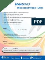 FB Microcentrifuge Tubes Flyer