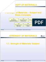 1 Strength of Materials Subject and Basic Concepts