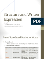 Structure and Writen Expression