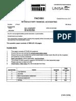FAC1501 Exam Oct.nove 2013