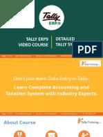 Tally ERP9 Course Syllabus GST