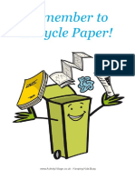 Remember to Recycle Paper