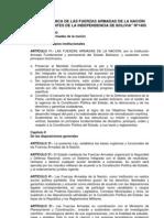 Ley de Organización FFAA (Bolivia)