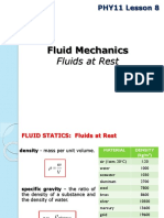 PHY11 Lesson 8 Fluids at Rest