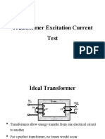 Transformer Excitation Current Test