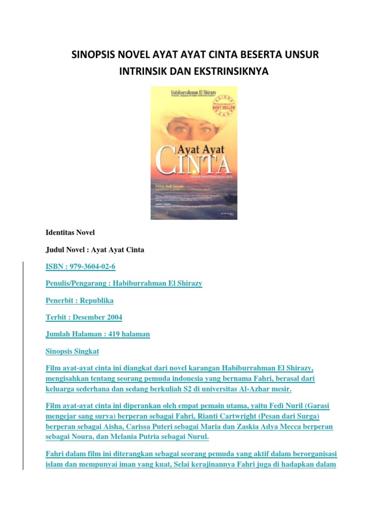 Resensi Novel Ayat Ayat Cinta 2 Tentang Cinta Dan Perjuangan Membumikan Islam Halaman All Kompasiana Com