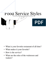 2.Dining ServiceStyles