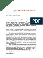 FILOSOFÍA Y CIENCIA EN LA ETAPA ONTOLÓGICA DE XAVIER ZUBIRI