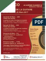 Communiqué de Presse - Journées de La Guitare Monaco 2018