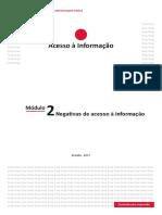Módulo 2 - Negativas de Acesso à Informação