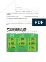 Pronunciation of Final -s