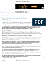 G&M - 2010-09-07 - How to Land a Seat on a Corporate Board