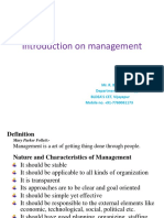 01. Introduction of Managment