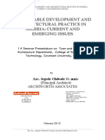 Sustainable Development and Architectural Practice in Nigeria