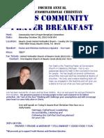 4th Annual Men's Prayer Breakfast Brochure