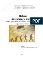 Referat antropologie motrică