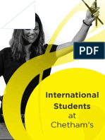 International students at Chetham's