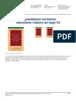 Les Gramàtiques Normatives Valencianes i Balears Del Segle XX