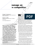 How to manage an aggressive competitor