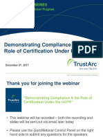 Demonstrating Compliance & the Role of Certification Under the GDPR