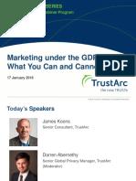 Marketing under the GDPR