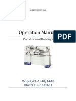 Ycl-1340 - 1440 Operation and Parts Manual