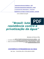 Brasil - Luta Pela Água