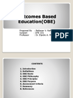 Outcomes Based EducationOBE REPORT