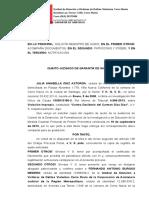 Solicita Registro de Audio. Julia Díaz Astorga