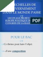 LE PROJET D'UNE EUROPE POLITIQUE