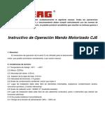 Instructivo Mando Motorizado CJ6
