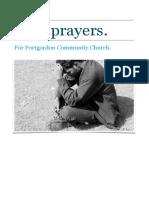Prayer Book for Portgordon Community Church.