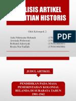 Analisis Artikel Penelitian Historis