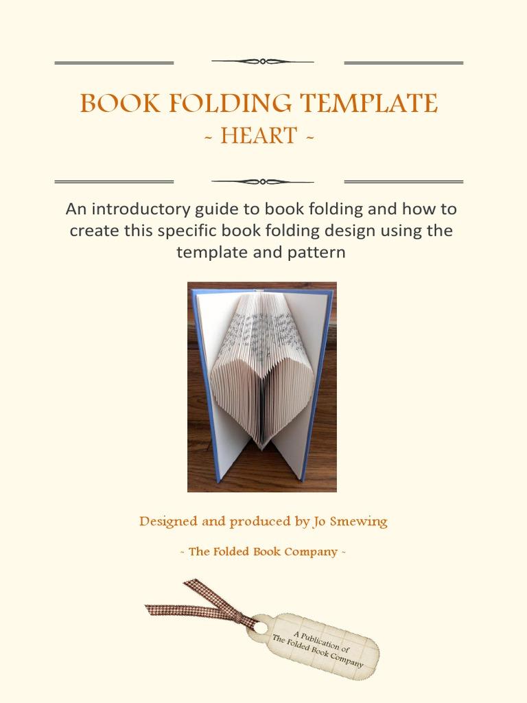 Book Folding Individual Template Heart