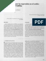 La pregunta por la expresión en el estilo. Gombrich y Wolfflin, Arnaldo.pdf