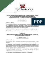 Proyecto de Ley que reemplaza del DU003