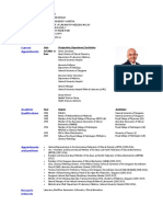 Prof S Sethi - 1 Page CV - JAN 2017 With Photo