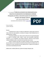 FOTOGRAFÍA Y VÍDEO EN UN PROYECTO DE INTERVENCIÓN SOCIO-EDUCATIVA EN ADOLESCENTES CON SÍNDROME DE ASPERGER