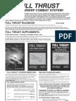 Full Thrust Tactical Miniatures Combat Catalogue