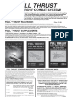 Full Thrust Tactical Miniatures Combat Catalogue