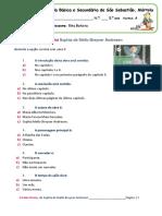 Ficha de Verificação Da Leitura Do Conto a Fada Oriana Inha