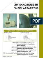 DrySand/Rubber wheel apparatus