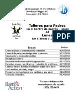 Barrio Action - Talleres