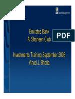 Investment Basics - Aug 2008