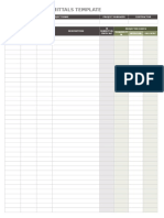 IC Schedule of Submittals Template