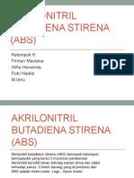 Akrilonitril Butadiena Stirena (ABS)