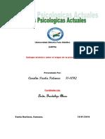 Tarea 1 de Teorias Psicologicas Actuales