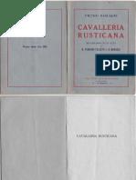 Cavalleria Rusticana- Pietro Mascagni