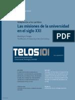 Las Misiones de La Universidad en El Siglo XXI-2015
