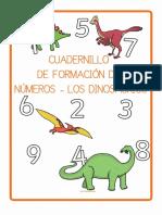 Cuadernillo La Formacion de Los Numeros 1 9 Los Dinosaurios